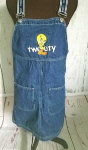 Vintage Warner Bros tweety bird  overall dress